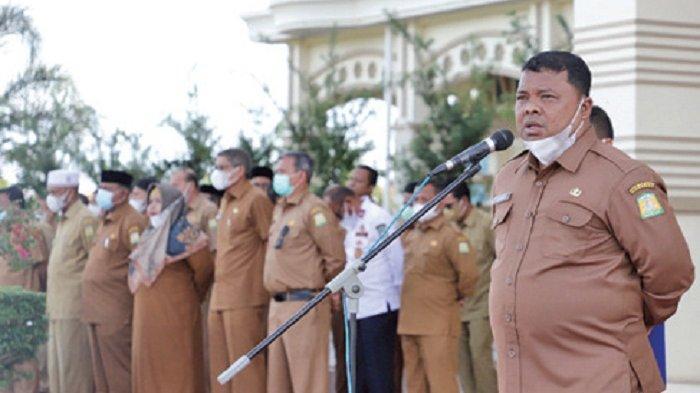 Sekda Aceh Besar Pembina Apel Gabungan