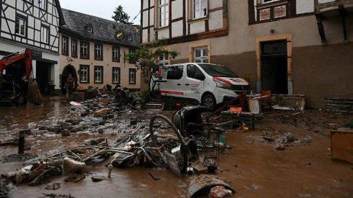 Korban Tewas Banjir Bandang di Jerman-Belgia Bertambah 93 Orang, Ribuan Orang Hilang