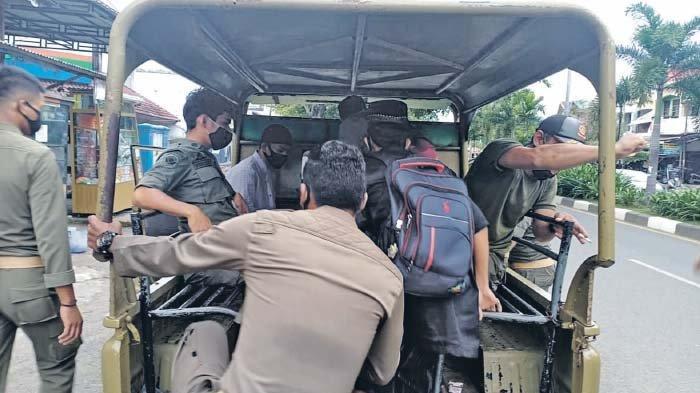 Satpol PP Banda Aceh Jaring Puluhan Anak Jalanan, Sebagian Mulai Dibawa ke Ladong