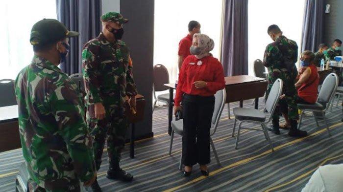 Dandim Aceh Besar Tinjau Pelaksanaan Baksinasi
