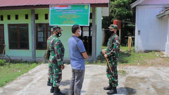 Dandim Aceh Tenggara Tinjau Posko PPKM di Desa Pasir Permate