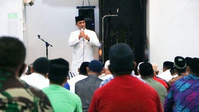 Dandim Aceh Timur Beri Tausiah Ramadhan di Masjid Darul Falah Langsa