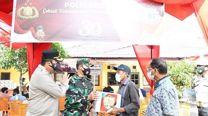 Peringatan 30 Tahun Pengabdian Alumni Akpol 91 Bhara Daksa, Polres Bagi 200 Paket Bansos