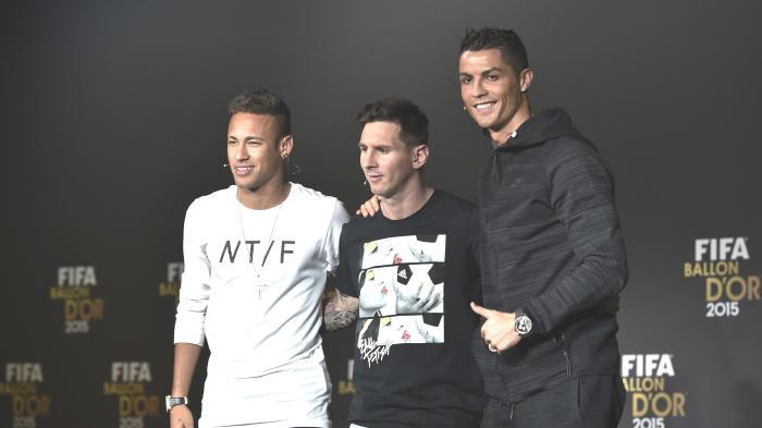 Messi, Ronaldo dan Neymar Berada di Kota Madrid