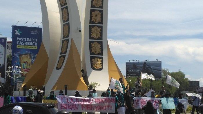 Sejumlah Massa Gelar Demo di Banda Aceh, Kecam Aksi Represif Polisi Aksi 22 Mei