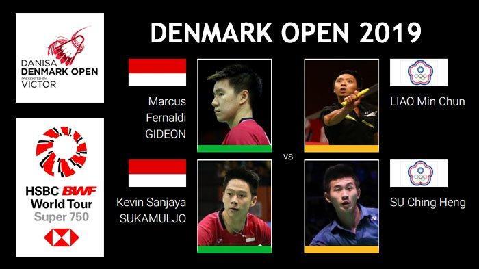 Jadwal Lengkap Denmark Open 2019 - Juara Bertahan Marcus/Kevin Langsung Main Hari Pertama