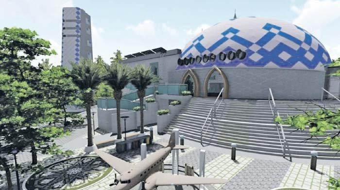 Masjid Nyak Sandang Berkonsep Modern, Ditargetkan Rampung Oktober 2021