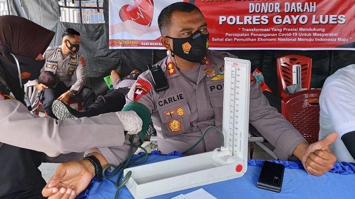 Polres Gayo Lues Gelar Donor Darah