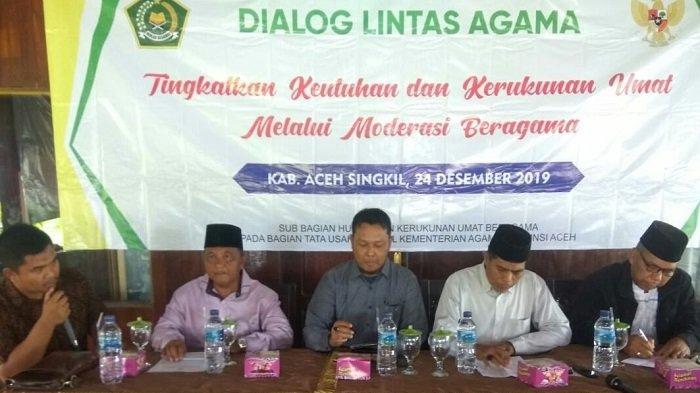 Kemenag Aceh Gelar Dialog Lintas Agama di Aceh Singkil, Ini yang Dibahas