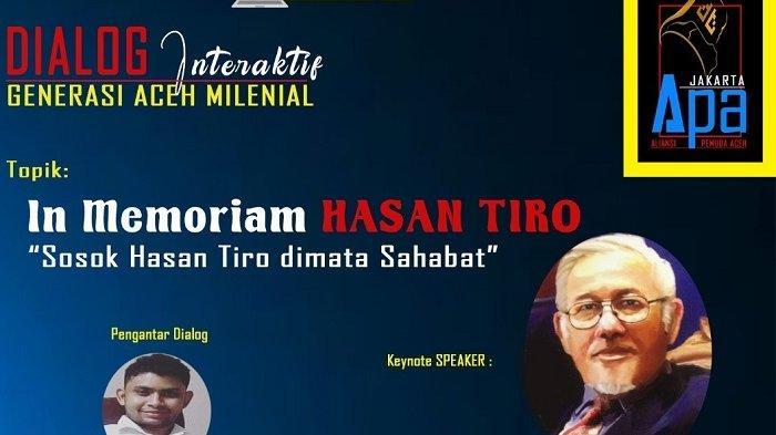 """Tgk Hasan Tiro: """"Husaini Hasan Kiriman Tuhan Untukku"""" Ikuti Dialog Interaktif di Zoom"""