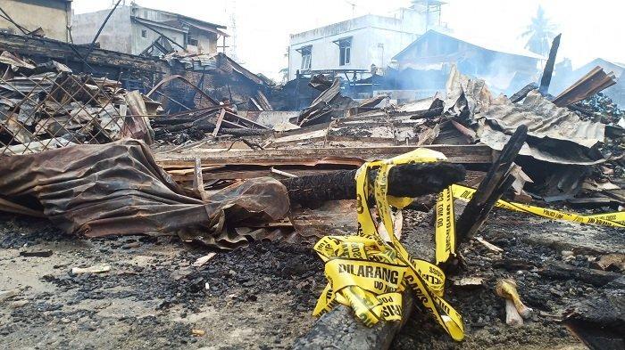 Usut Penyebab Kebakaran Enam Ruko, Polres Aceh Tamiang Mulai Periksa Sejumlah Saksi