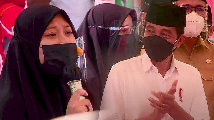 Inilah Puisi yang dibacakan Santriwati di Aceh Besar Untuk Presiden Jokowi Hingga dihadiahi Sepeda