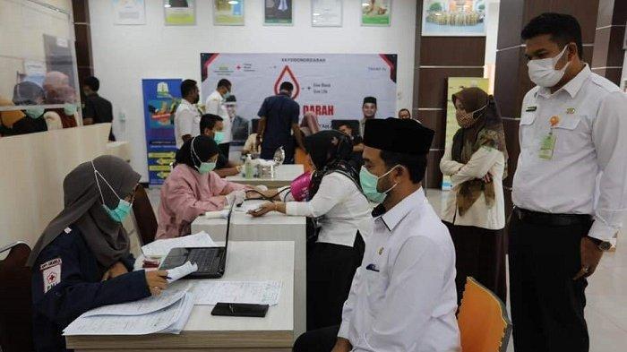 ASN Dinas Pendidikan Dayah Aceh Kembali Sumbang 40 Kantong Darah