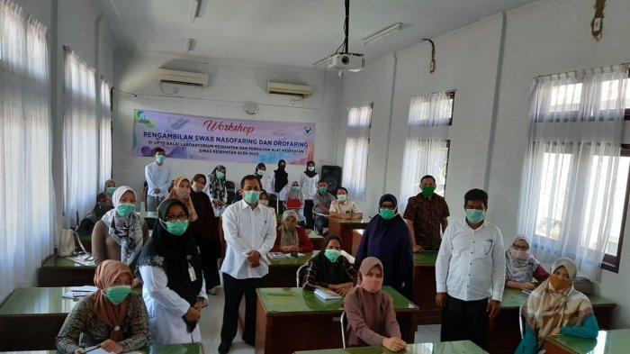Dinkes Aceh Latih 18 Petugas Laboratorium Sembilan RS di Aceh Cara Ambil Sampel Swab Terduga Corona