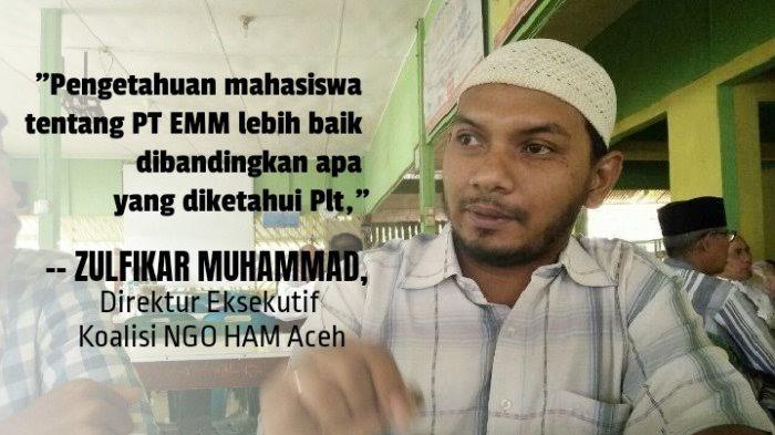 Tanggapi Pidato Nova Iriansyah Soal PT EMM, Koalisi NGO HAM Aceh: Itu Tindakan Pengecut