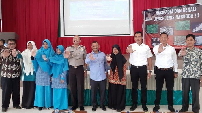 180 Siswa-siswi SMP Se-Aceh Besar Ikut Sosialisasi Antinarkoba, Ini Harapan Kapolres dan Kadisdik