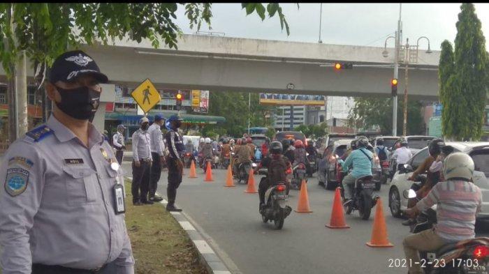 Dinas Perhubungan Kota Banda Aceh Lakukan Rekayasa Jalan di Simpang Surabaya, Ini Penyebabnya