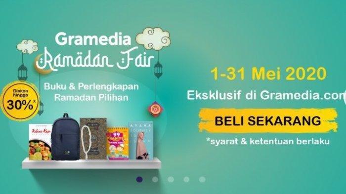 Gramedia.com Diskon 50 Persen di Bulan Ramadhan, dari Buku Masak hingga Perlengkapan Ibdah