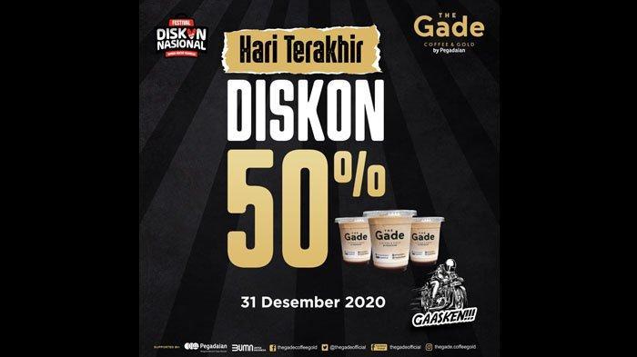 Hanya Hari Ini, Semua Menu The Gade Coffee & Gold Diskon 50%, Khusus Member TFC Gratis Jus Kurma