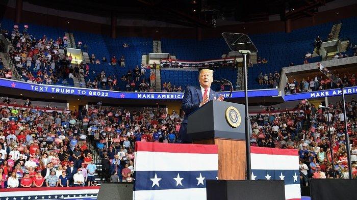 Kasus Virus Corona Melonjak, Gara-gara Kampanye Presiden Donald Trump di Tulsa
