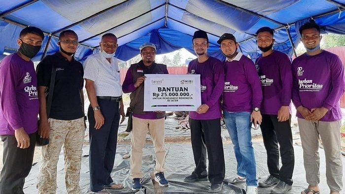 Baitul Muamalat Aceh Serahkan 23 Ekor Biri-biri dan Donasi Rp 25 Juta ke Pengungsi Rohingya