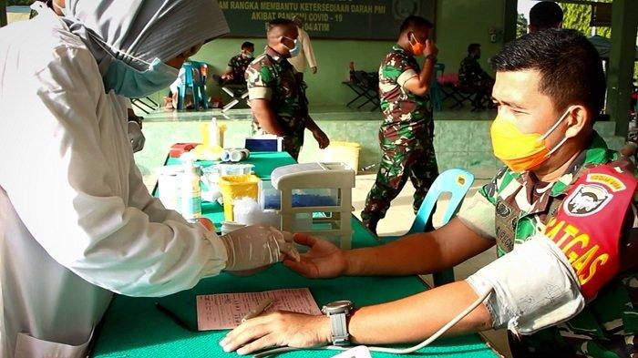 Stok Darah di PMI Langsa Menipis, Kodim 0104/Atim Gelar Donor Darah, Terkumpul 59 Kantong