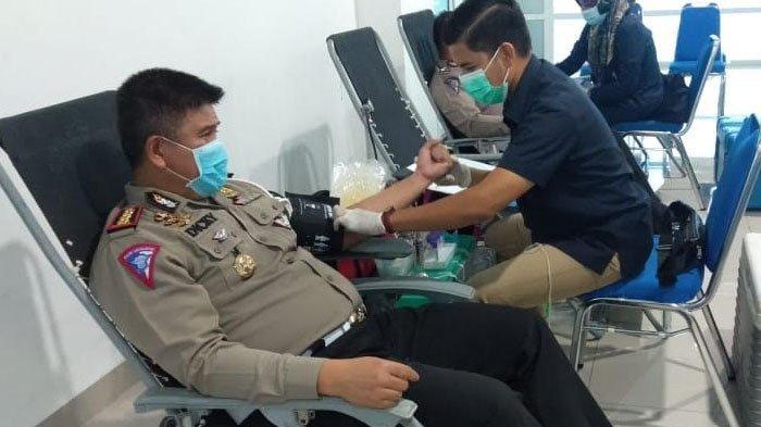 Ditlantas Polda Aceh Sumbang Darah 57 Kantong untuk PMI Kota Banda Aceh