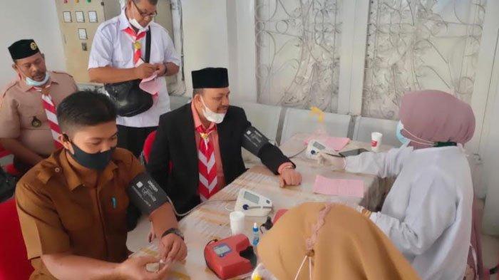 Kwarcab Langsa Gelar Donor Darah Peringati Hari Pramuka Ke-60
