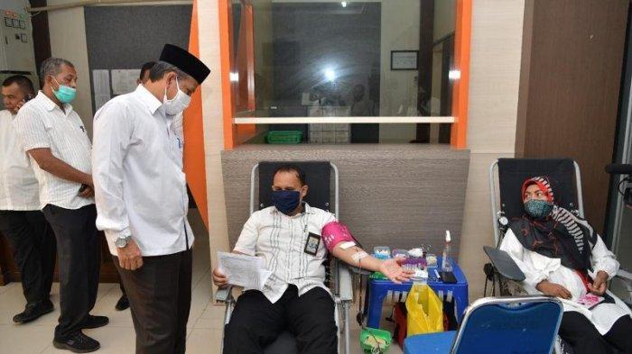 Aksi Donor ASN Pemerintah Aceh Sudah Kumpulkan Darah 2.111 Kantong