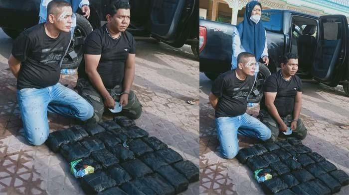 Satu lembar foto terdapat tiga orang, dua orang duduk dengan tangan diborgol dan satu perempuan berdiri beredar di sejumlah grup WhatsApp , Selasa (20/04/2021). Pria paling kanan yang tangan diborgol ke depan diduga anggota DPRK Bireuen, US yang jadi DPO Polda Sumatera Utara dalam kasus sabu.
