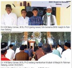 Dr H M Bakry Usman Khatib di Sabang