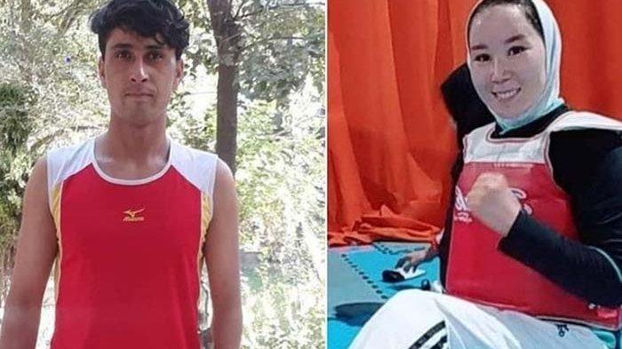 Perayaan Emosional Sambut Kedatangan Dua Atlet Afghanistan