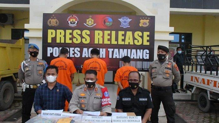 Polres Tamiang Tangkap Dua Perampok Truk