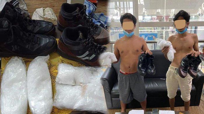 Dua Pria Ini Ditangkap di Bandara Kualanamu, Nekat Bawa 2 Kg Sabu Sembunyikan di Sepatu