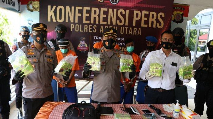 Begini Proses Penangkapan Tersangka Penyelundupan Tujuh Kilogram Sabu di Kampung Nelayan Aceh Utara