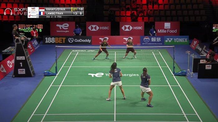 Duet Manis Apriyani Rahayu/Putri Syaikah Sukses Bawa Indonesia Unggul 3-0 dari Prancis di Piala Uber