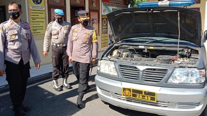 Polres Pidie Jaya Cek Kendaraan Operasional Secara Berkala