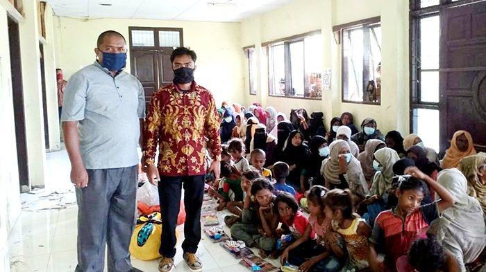 Aksi Cepat Eddie Foundation, Bantu Muslim Rohingya yang Terdampar di Aceh Utara