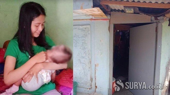 Lahirkan Bayi Cacat, Ibu Muda Ini Malah Dicerai Suami, Hidup Menderita di Rumah Petak 2x6 Meter