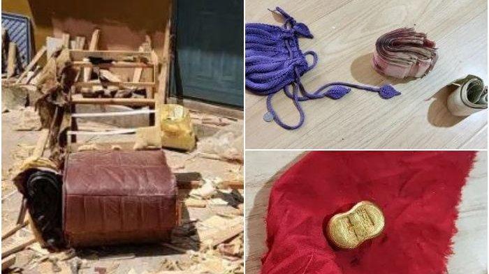 Rezeki Nomplok! Pria Ini Temukan Sebongkah Emas dan Segepok Uang dalam Sofa Bekas di Pinggir Jalan