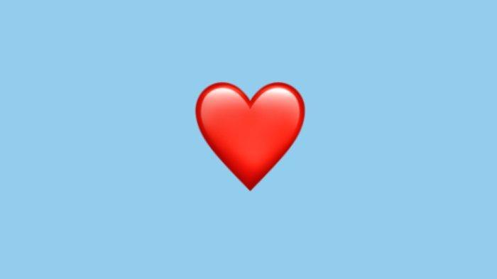 emoji love merah