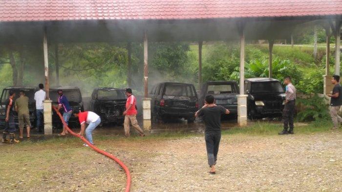 Empat Mobil Pemkab Abdya Terbakar, Terparkir di Belakang Kantor Bupati