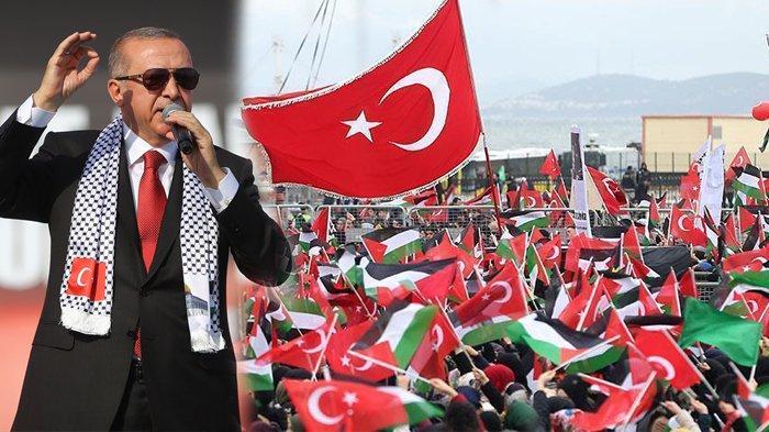 Ikut Demo Besar di Istanbul, Erdogan Kecam Dunia Atas Kegagalan dalam Ujian di Yerusalem
