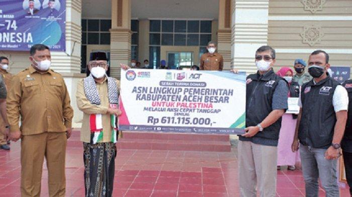 ASN Pemkab Aceh Besar Bantu Palestina Rp 611.155.000