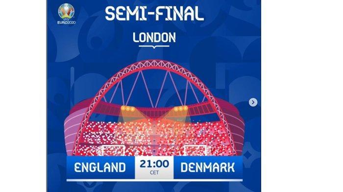 LIVE STEAMING Semifinal Euro 2021 Inggris vs Denmark, Tim Denmark Bertekad Teruskan Kejutan