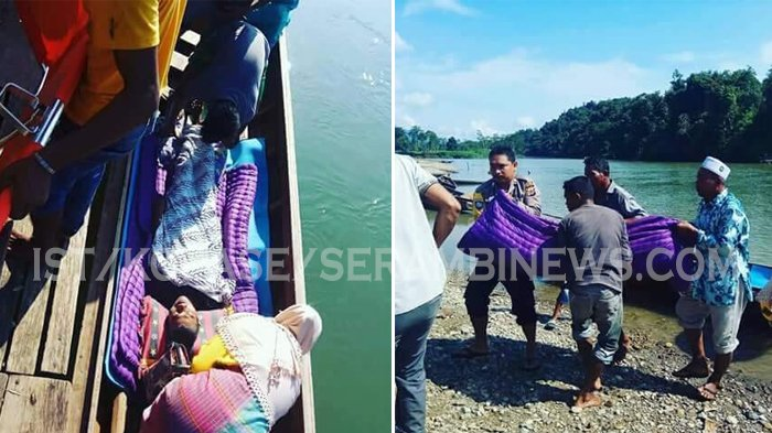 Tak Ada Akses Jalan Darat, Warga Sakit di Pedalaman Aceh Timur Terpaksa Dievakuasi Pakai Boat