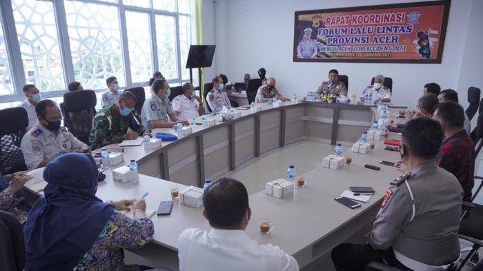 Ditlantas Polda Aceh Gelar Rapat Antar Forum Lalu lintas Aceh 2021, Ini yang Dibahas