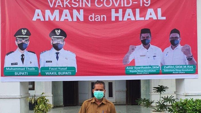 Ini Jumlah Petugas Kesehatan dan Lokasi Vaksinasi di 36 Titikdi Aceh Utara