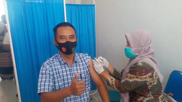 161 Personel Polres Langsa Jalani Suntik Vaksin Covid-19
