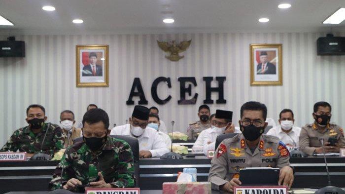 Kapolda Aceh dan Pangdam IM RakorPersiapan Pengamanan Idul Fitri